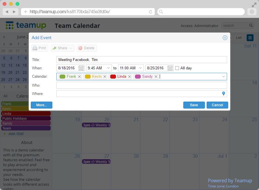 teamup calendari multipli