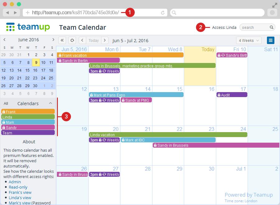 Calendario Condiviso Su Whatsapp.Teamup Il Calendario Per Team Piu Semplice Che C E Tool