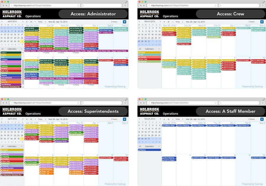 calendario per team