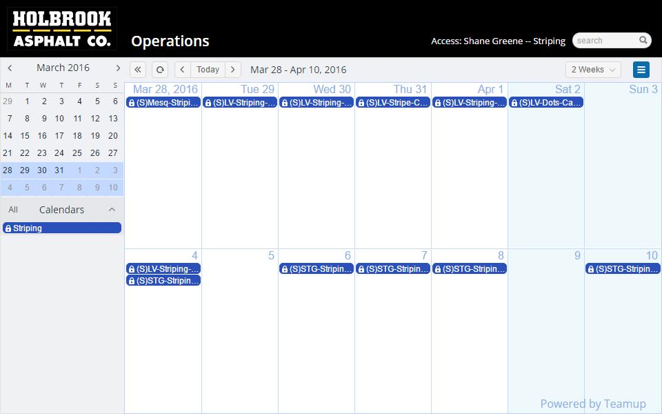 construction teamup calendar shared online calendar for groups