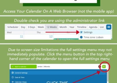 How to access the settings for your Teamup calendar