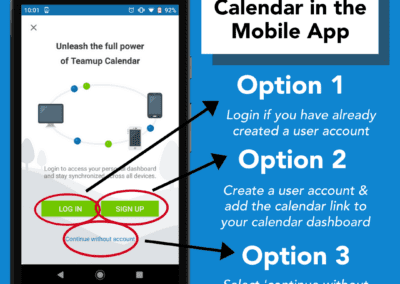 How to access your Teamup calendar in the Teamup mobile app