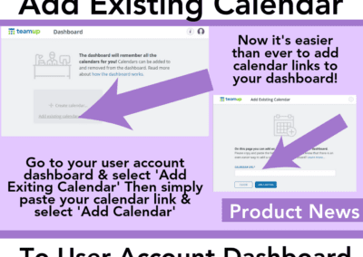 How to add an existing calendar to your calendar dashboard