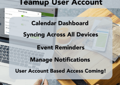 The benefits of creating a Teamup user account