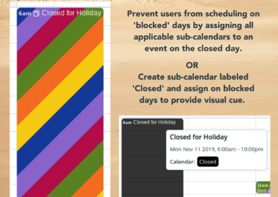 Block out a specific day on your Teamup calendar