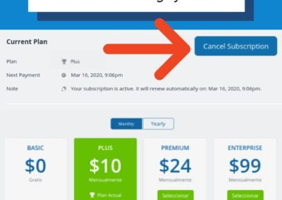How to cancel your Teamup calendar subscription