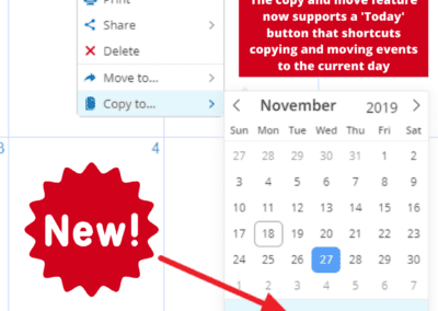 How to copy an event to Today using the new Today button