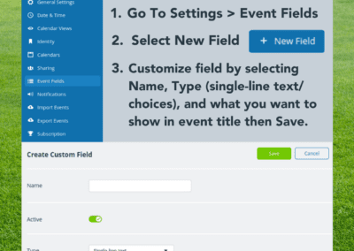 Custom Event Field