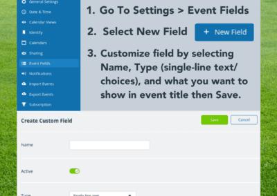 How to create a custom event field on Teamup calendar