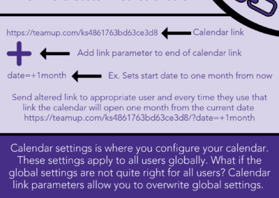 Customize your calendar with link parameters