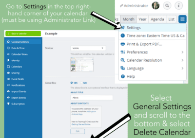 Beware! How to delete a master Teamup calendar