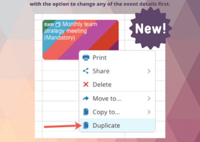 How to duplicate an event on your Teamup calendar