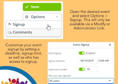 Enable Event Signups