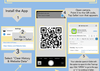 Open Teamup calendar using a QR code on an iOS device