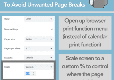 Printing tip for Teamup calendar to avoid unwanted page breaks