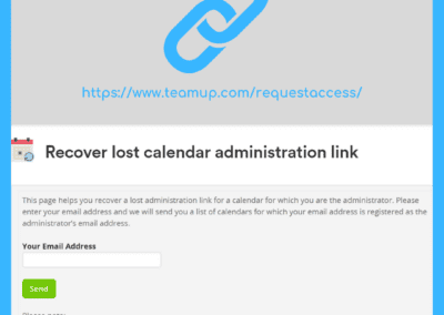 How to recover a lost calendar administrator link for your Teamup calendar