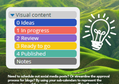 sub-calendar inspiration: color coding for streamlined workflow