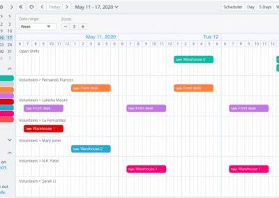 The Timeline calendar view is great for coordinating a shift schedule