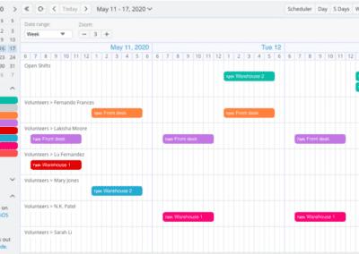 Timeline Shift Schedule