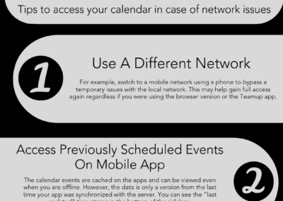 Tips to access your calendar in case of network issues