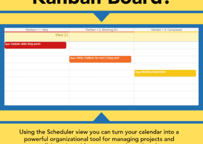Turn your calendar into a Kanban board