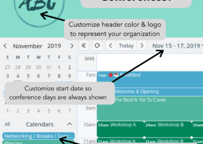 How to use Teamup calendar for conference schedules and management