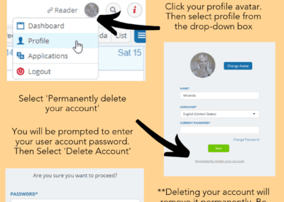 How to delete a user account
