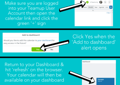 Add link to dashboard