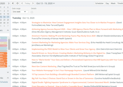 Agenda view with full session titles