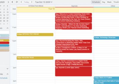 Selected categories in scheduler view
