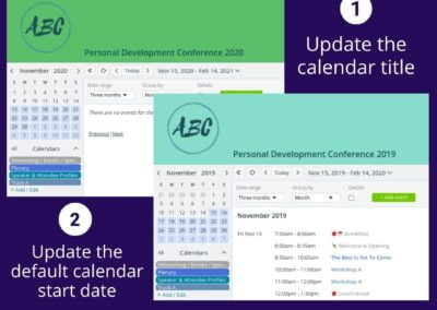 Utilize the same calendar for annual event