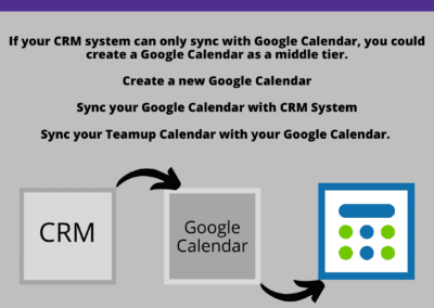 Utilize a different calendar program to act as a go between