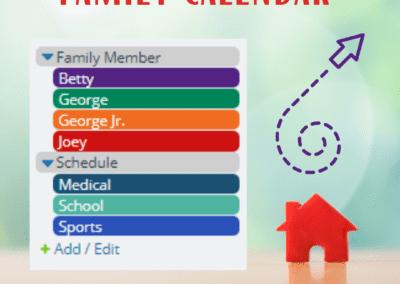 Family calendar sub-calendar inspiration