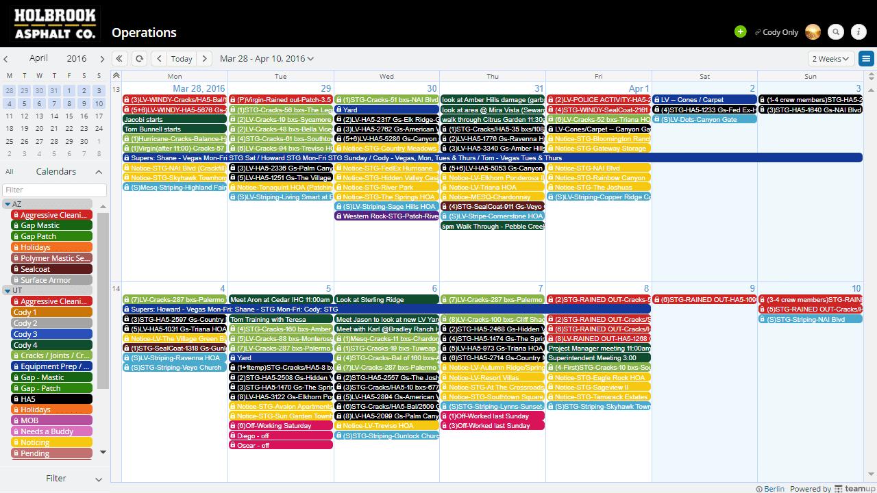 holbrook superintendent calendar view